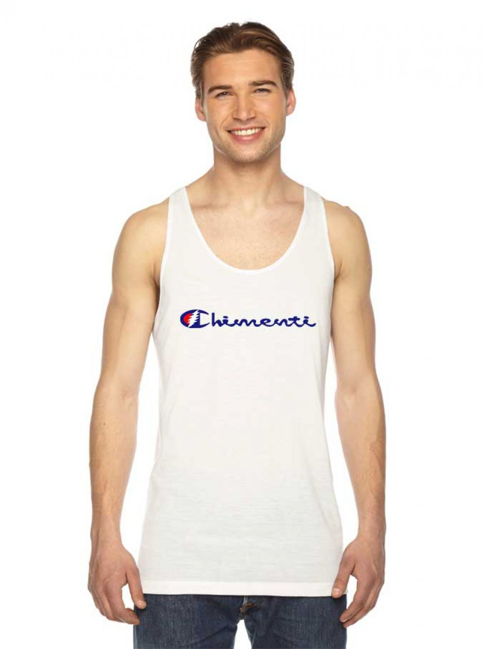 13012159a429 Chimenti Champion Parody Tank Top #Tee #Hype #Outfits #Outfit #Hypebeast #