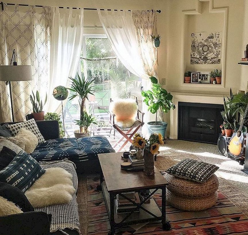 40 Stylist Boho Chic Home And Apartment Decor Ideas Met Afbeeldingen Boheemse Woonkamers Interieur Woonkamer Inrichting