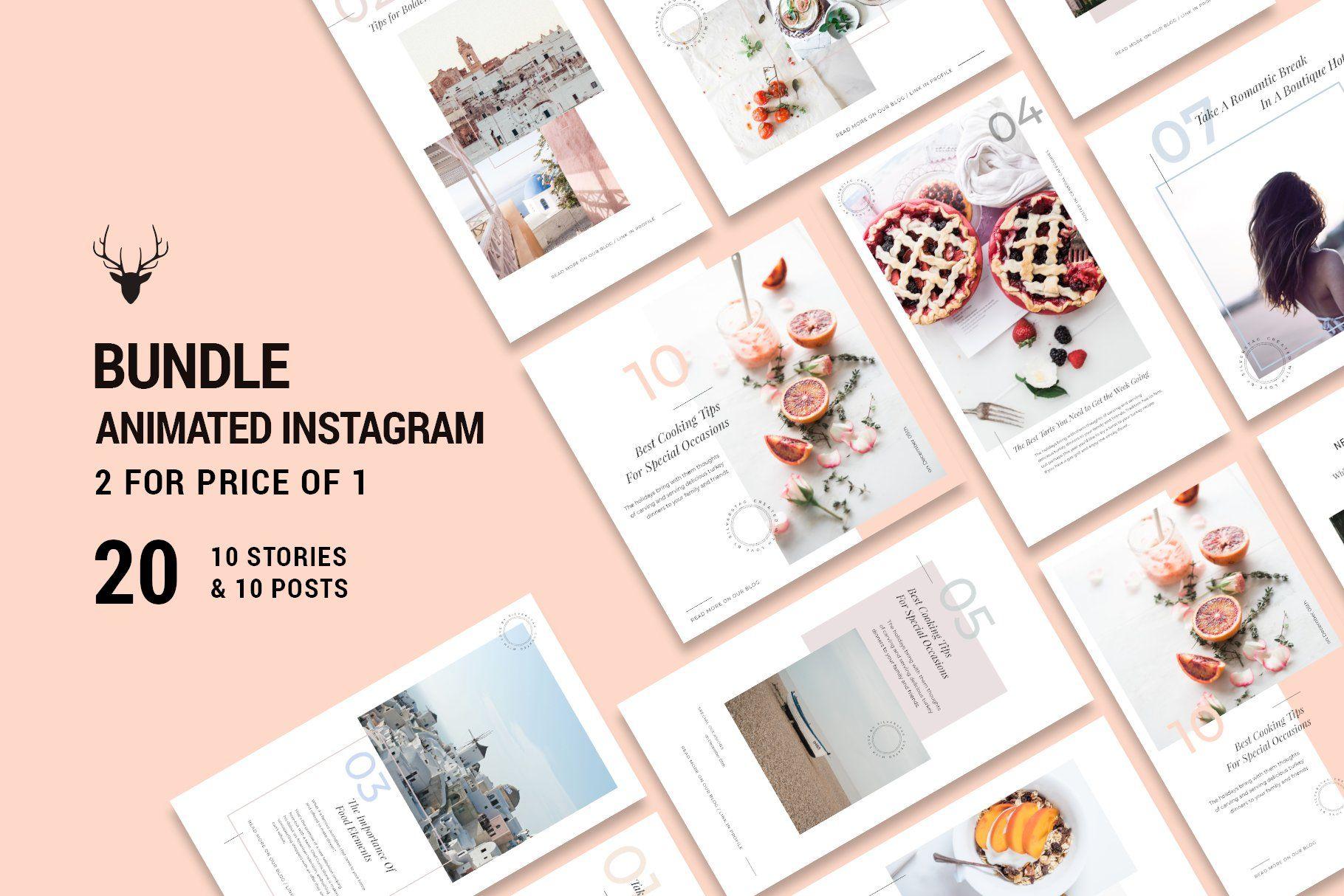2 for 1 bundle animated insta pack instagram post