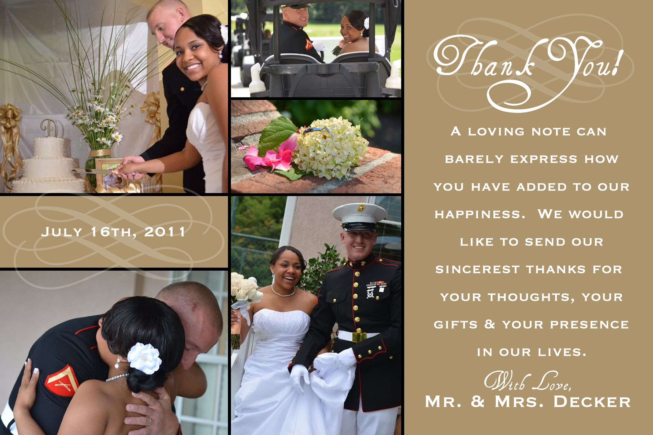 17 Best images about Thank you card – Wedding Thank You Card Design