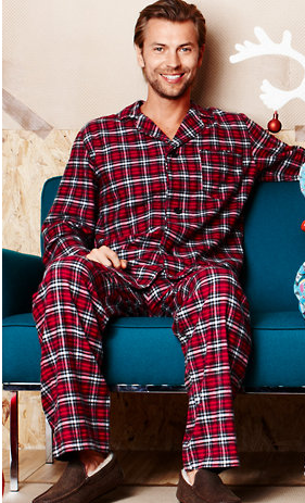Men's Holiday Flannel Pajamas from Garnet Hill | Cozy Sleepwear ...