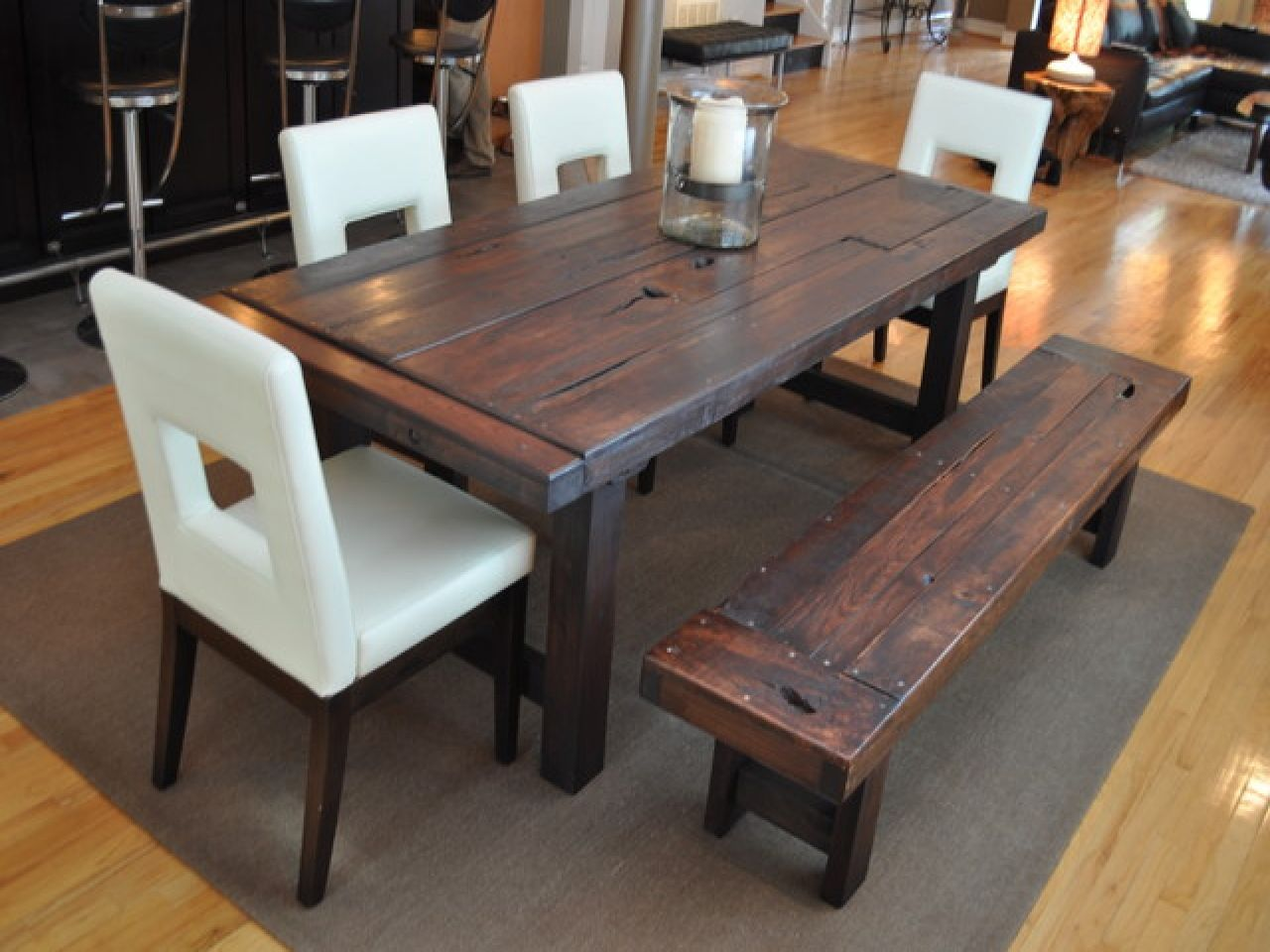 Dining Room: The Attractive Rustic Dining Room Sets With Three ...