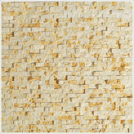 Mini Split Face Stone Tile Gold | Stone tiles, Stone and Wall water ...