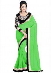 Irresistible Georgatte Lace Work Festive Wear & Party Wear Saree
