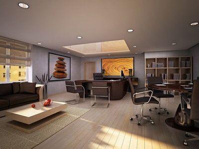 Dise o interior de la oficina moderna sala reuniones for Despachos de diseno de interiores df