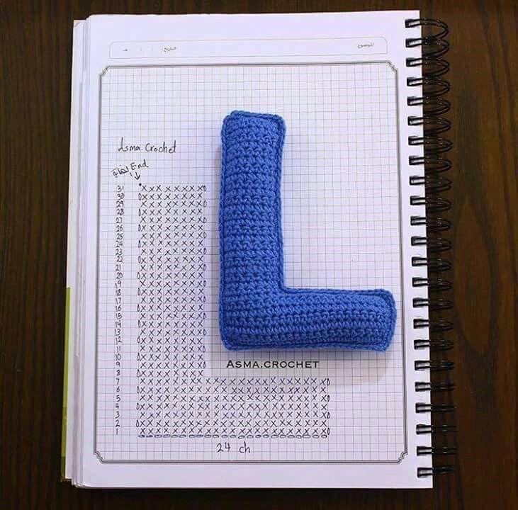 Pin de Sylvia Torres en LETRAS   Pinterest   Ganchillo crochet ...