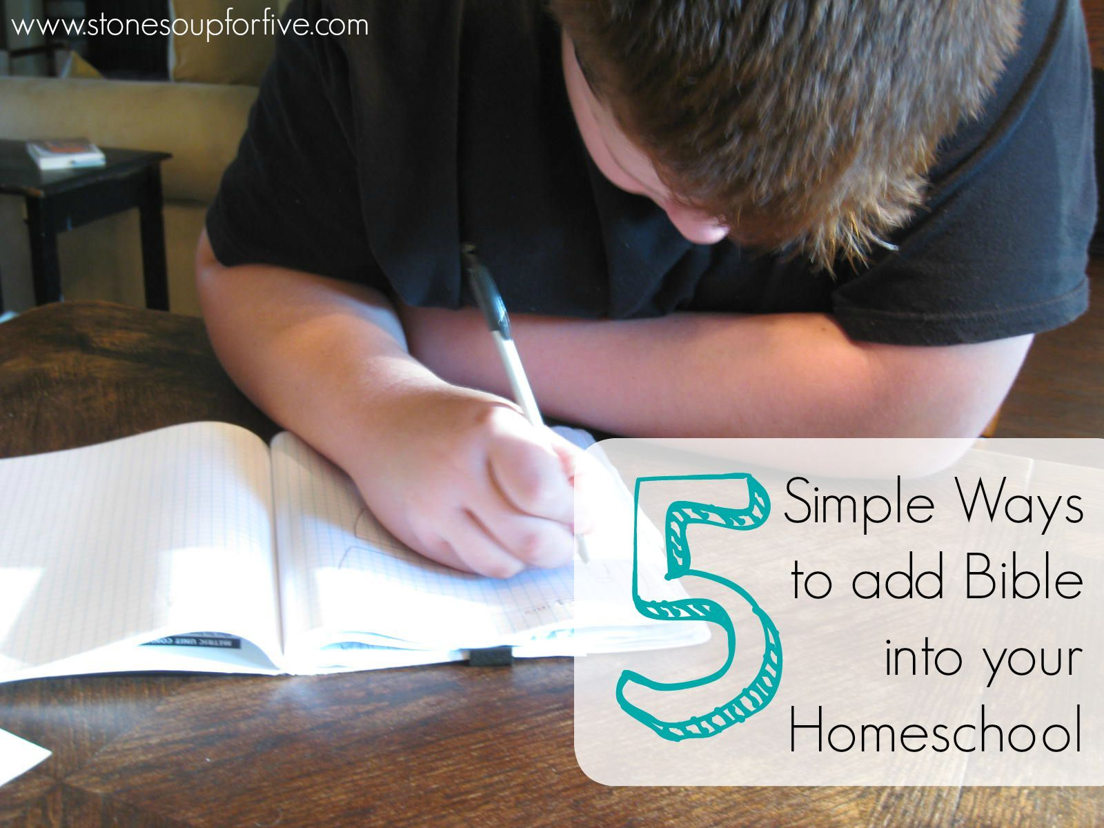 Stone Soup For Five 5 Simple Ways To Add Bible Into Your