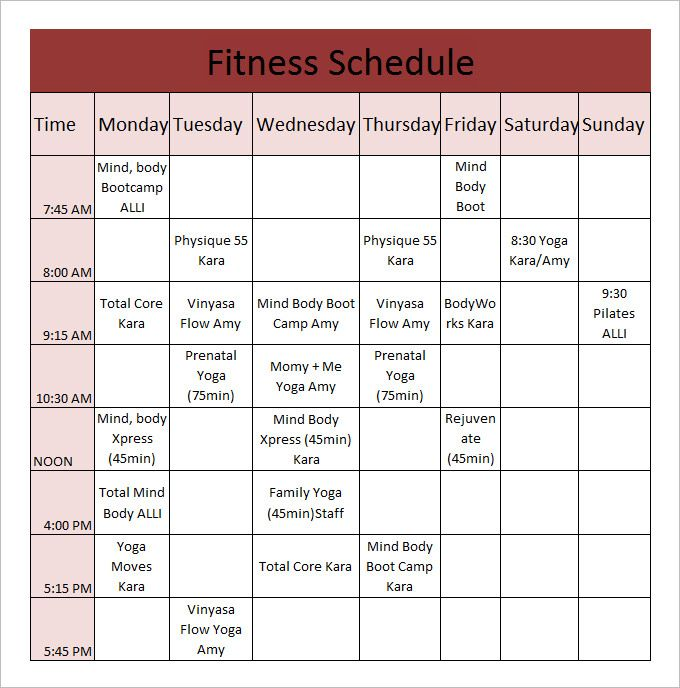 Workout Calendar Template PDF 2018 Calendar Templates Pinterest