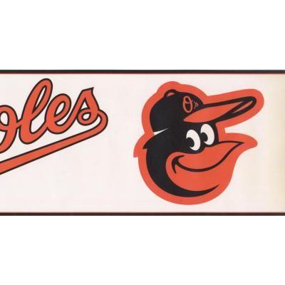 """York Wallcoverings """"Baltimore Orioles MLB Baseball Team"""