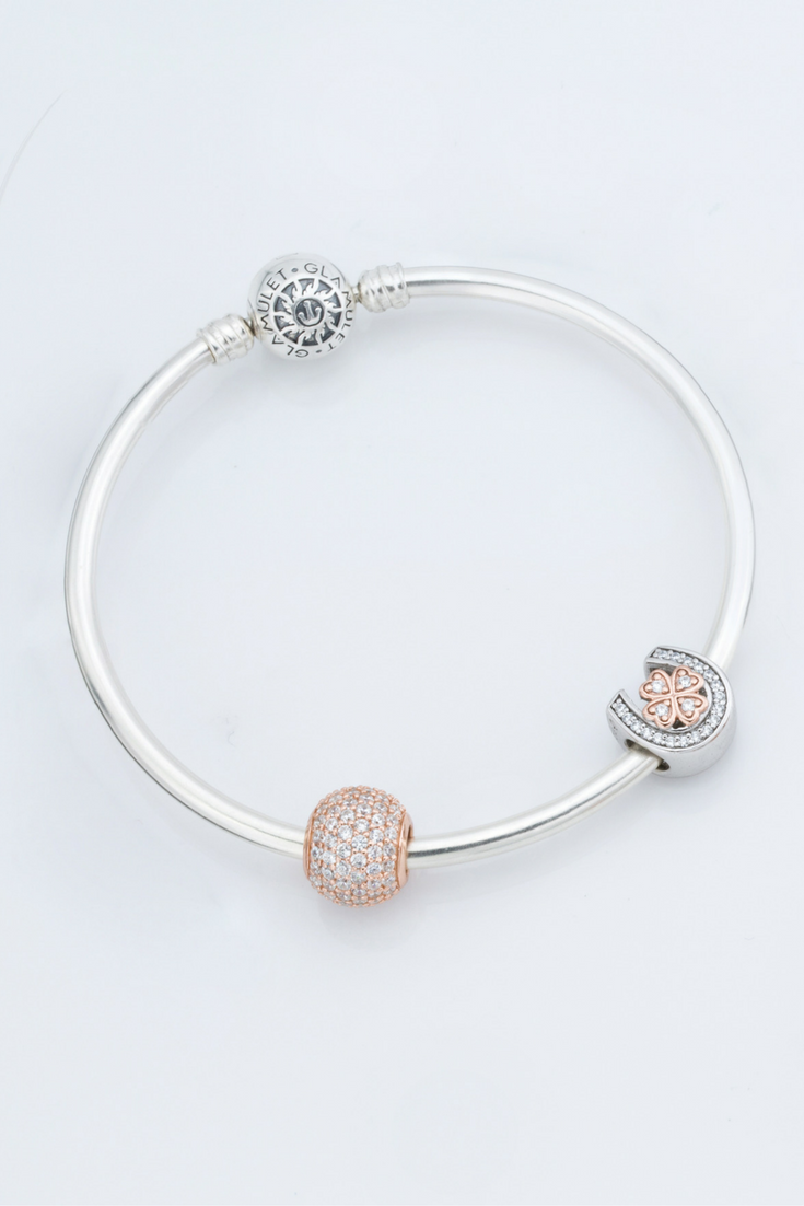 Rose gold charm bracelet best beauty accessory for fashion girls