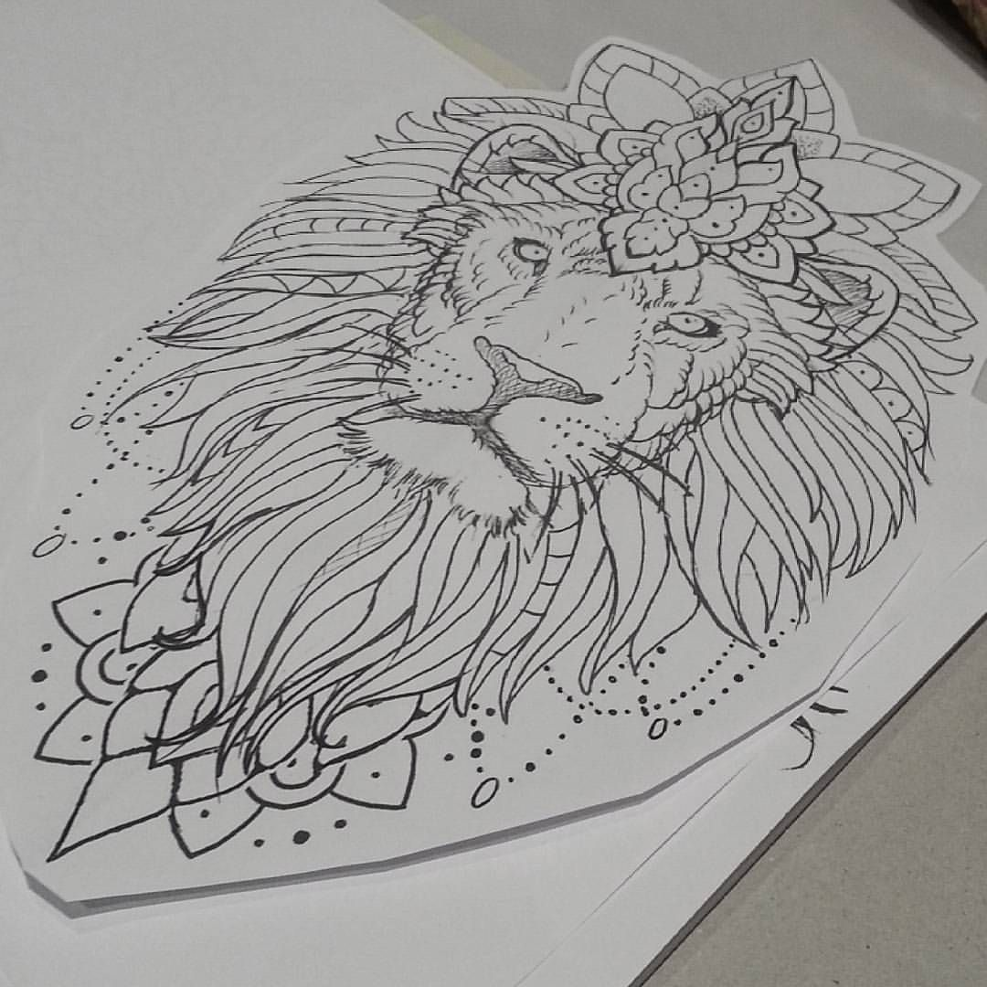 Lion Tattoo Except With A Bull For Me Ink Tattoos Lion Tattoo