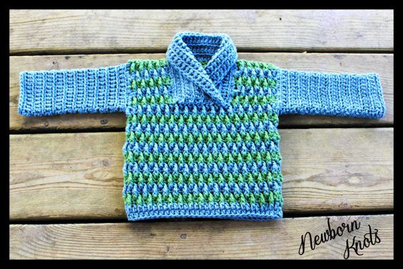CROCHET PATTERN For Baby Boy or Girl Rippled Shawl di NewbornKnots