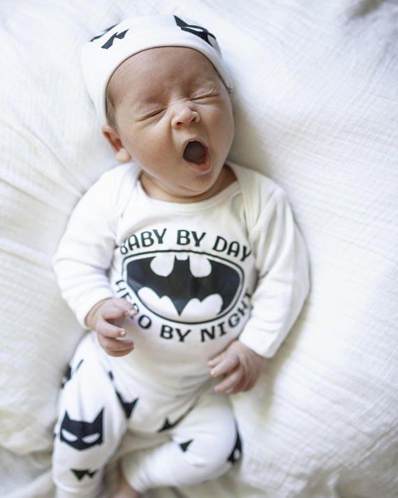 delightful Baby Boy Pinterest Part - 9: Newborn boys clothes batman outfit cute baby boy outfit