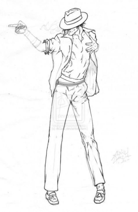 Free Michael Jackson Coloring Page To Print People Coloring