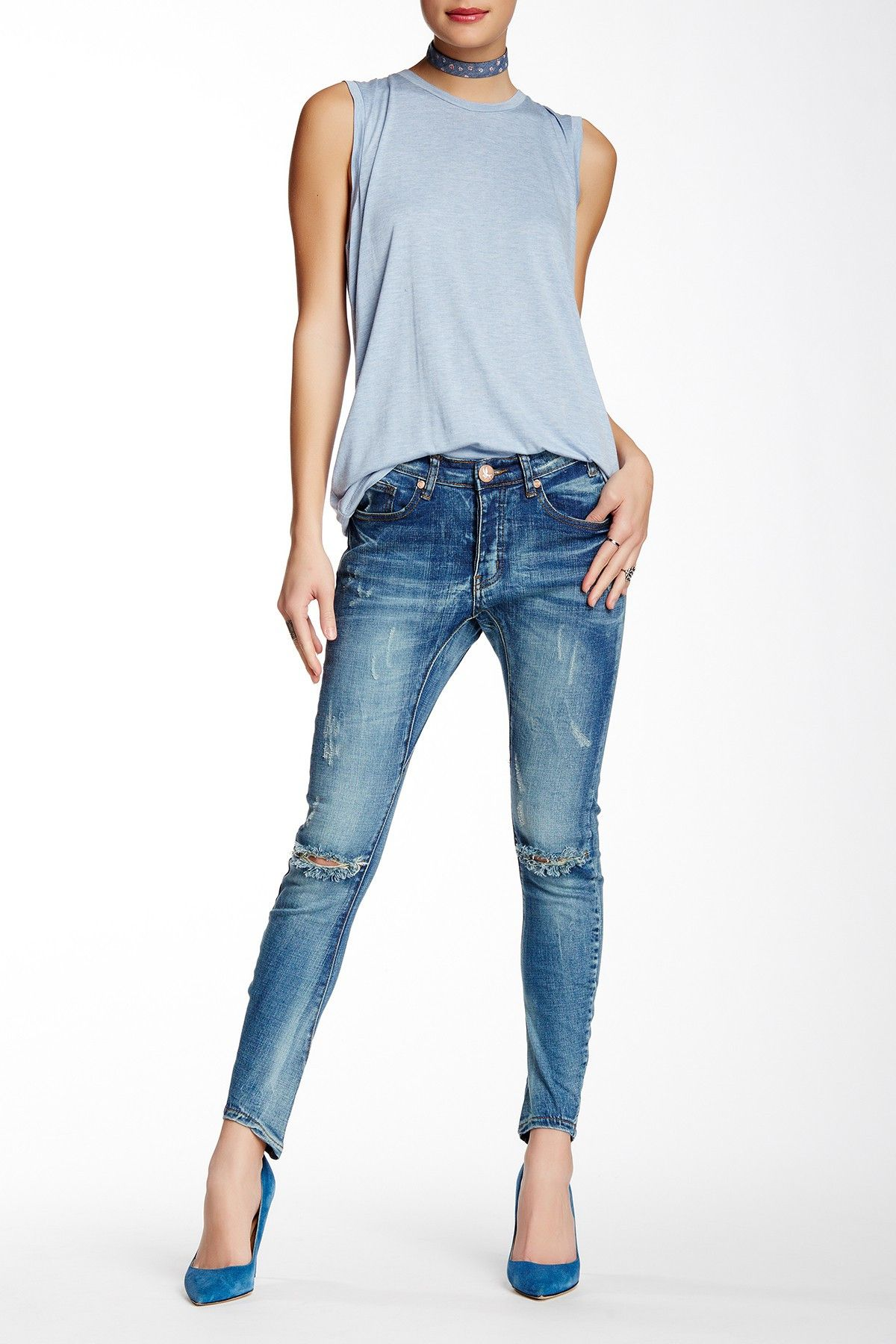 Shades Of Blue One Teaspoon Distressed Desperados Jeans Women Jeans Fashion Clothes