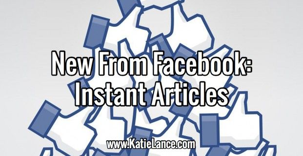 New From Facebook: Instant Articles