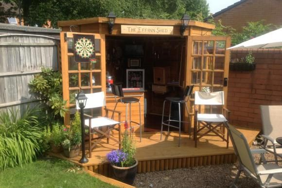 12 Amazing Pub Sheds You Would Love To Have In Your Back Garden Backyard Storage Sheds Bar Shed Backyard Storage