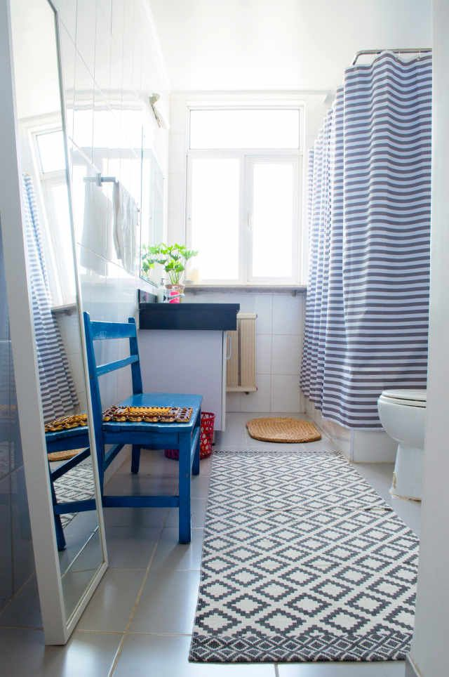 The decor trick that overhauled how  feel about my bathroom flooring interior design house also rh pinterest