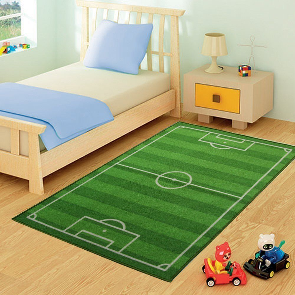 fussballzimmer fu ball teppich f r das fu ballzimmer kinderzimmer fussball pinterest. Black Bedroom Furniture Sets. Home Design Ideas