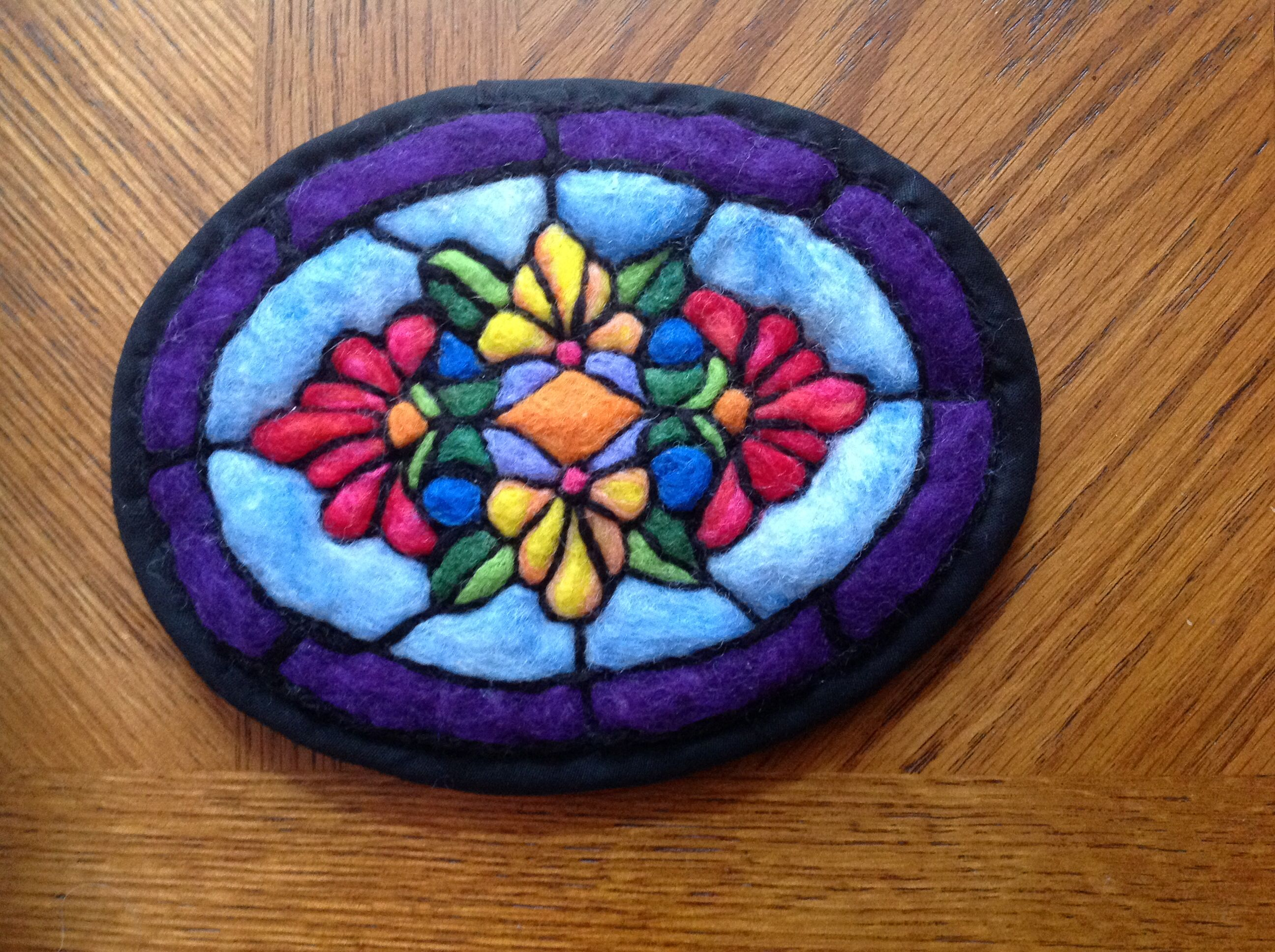 Felted Stained Glass Felt Crafts
