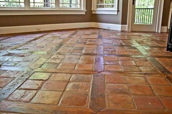 Suelo de barro cocido artesanal tratado con aceite para terracota mate a la cera similar al - Aplicaciones para buscar piso ...