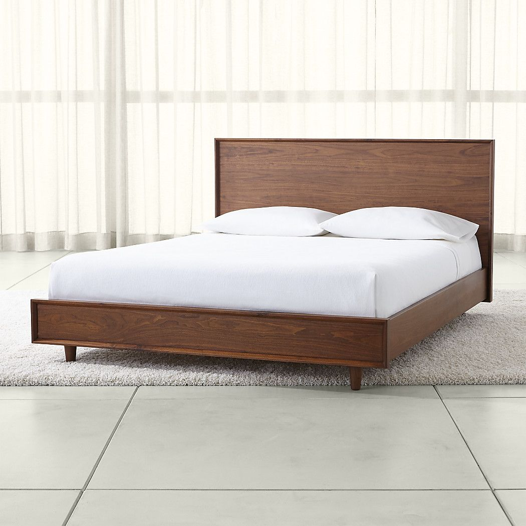 Designed by blake tovin the tate queen wood bed is a crate and barrel exclusive