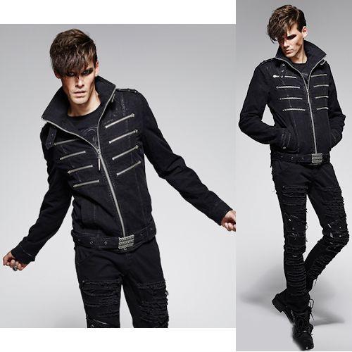 UZ Global Sleek Black Leather Jacket for Men