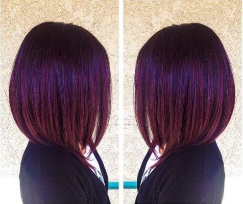 Couleur de cheveux violine prune