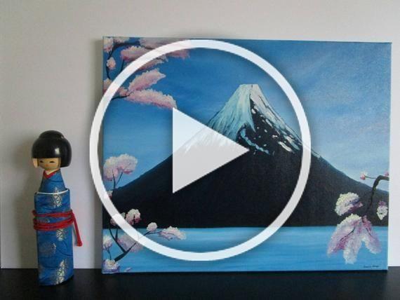 16x20 inch Mount Fuji Japanese Paintings  #japaneseart #mtfuji #mountfuji #japanesepainting #japanartwork