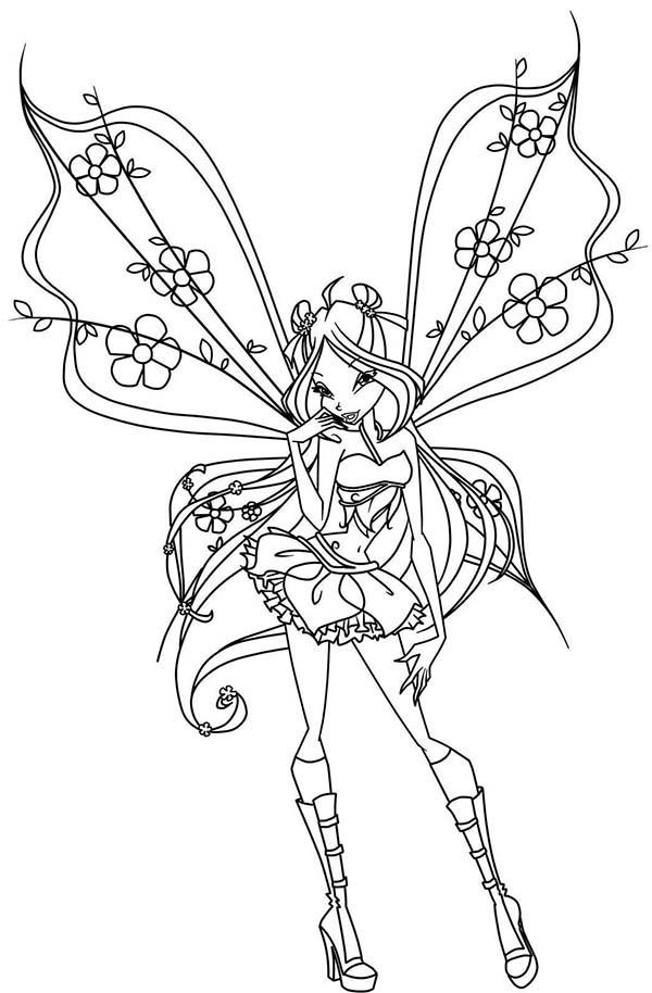 Princess Bloom The Keeper Of Dragons Flame Winx Club Coloring Pages Princess Bloom The Keeper Of Drago Fairy Coloring Pages Fairy Coloring Fairy Coloring Book