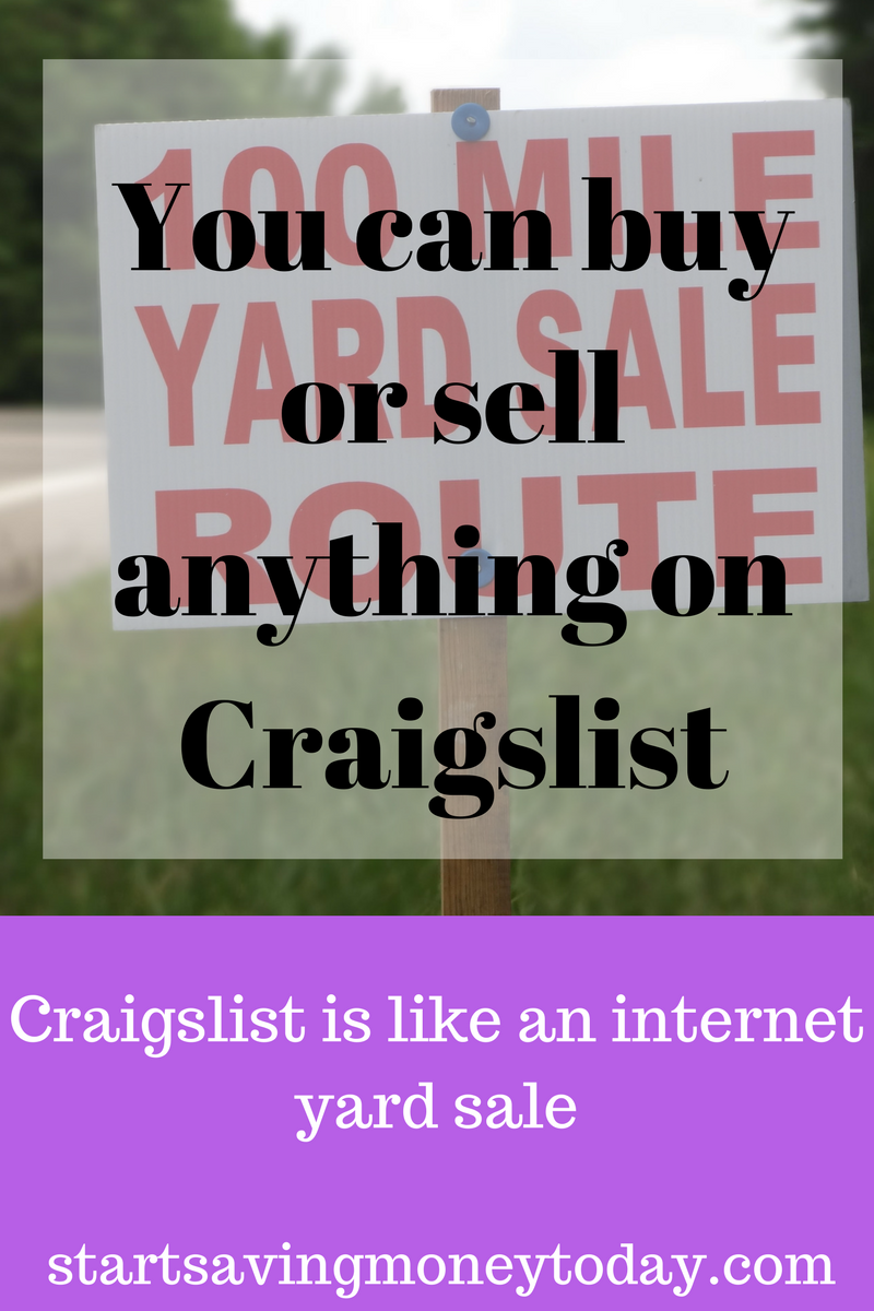 How To Earn Money On Craigslist Investing Money Earn Money Money Saving Tips