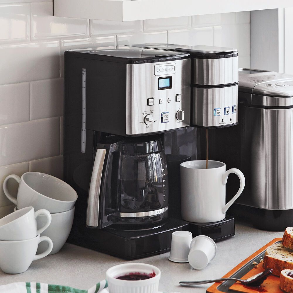 Cuisinart Coffee Center 12 Cup Coffee Maker And Single Serve Brewer Sur La Table In 2020 Coffee Maker Coffee Center Percolator Coffee Maker