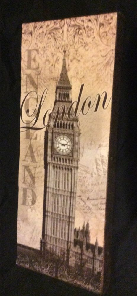 "NEW Mounted Big Ben Vintage Travel Art Print London England Britain UK 6""x18"" #Vintage"