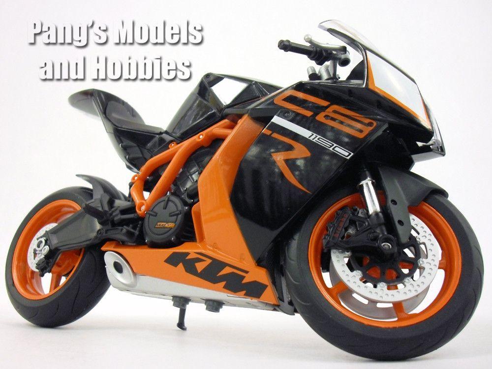 Ktm 1190 Rc8 R Black 1 10 Scale Diecast Metal Model Motorcycle