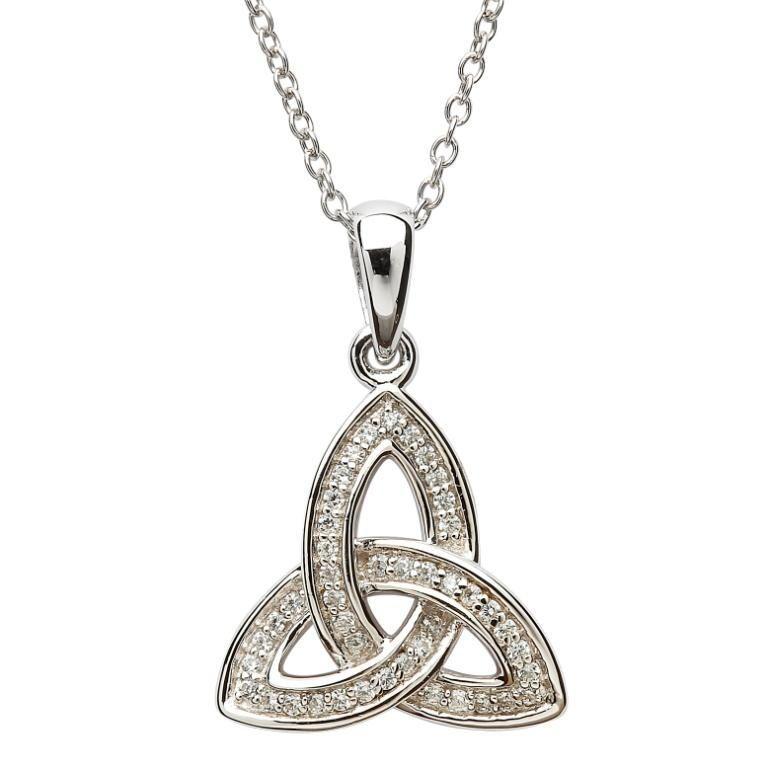 Silver stone set celtic trinity knot pendant shanore silver silver stone set celtic trinity knot pendant shanore silver mozeypictures Choice Image