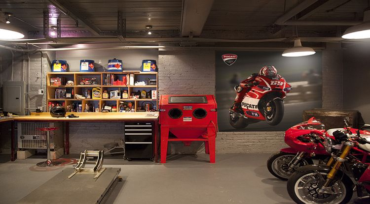 pingl par rudy merillou sur bricolage pinterest garage id e garage et garage de r ve. Black Bedroom Furniture Sets. Home Design Ideas
