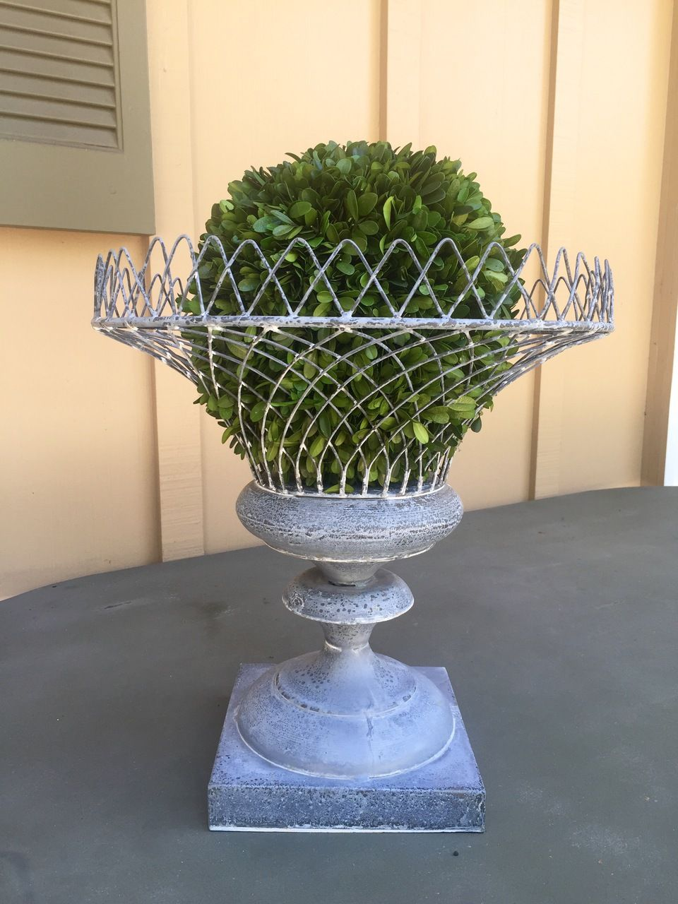 Zinc Wire Planter - Aidan Gray - Bellissimo Decor Store