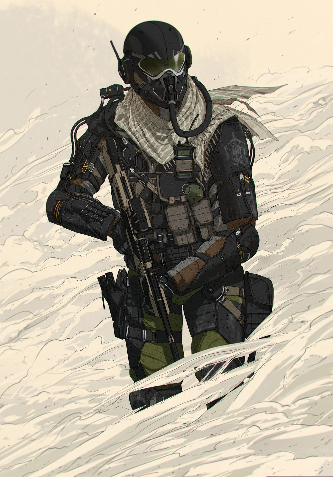 Sand storm, Artojka art group on ArtStation at https://www.artstation.com/artwork/QW5Y3