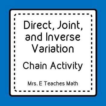 Direct Joint And Inverse Variation Ladder Activity Middle
