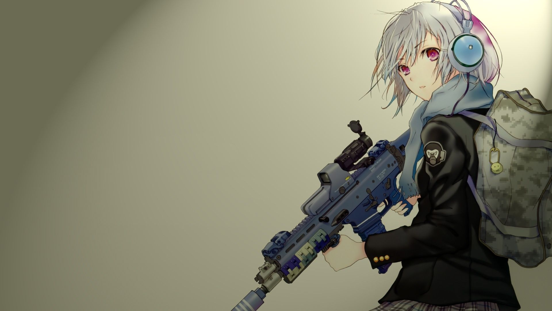 Anime Girls With Guns Wallpaper 4 Jpg 1 920 1 080 Pixels Wallpapers Hd Anime Arte Anime Animes Wallpapers