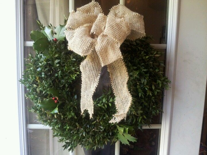 My beautiful wreath mom made me :)