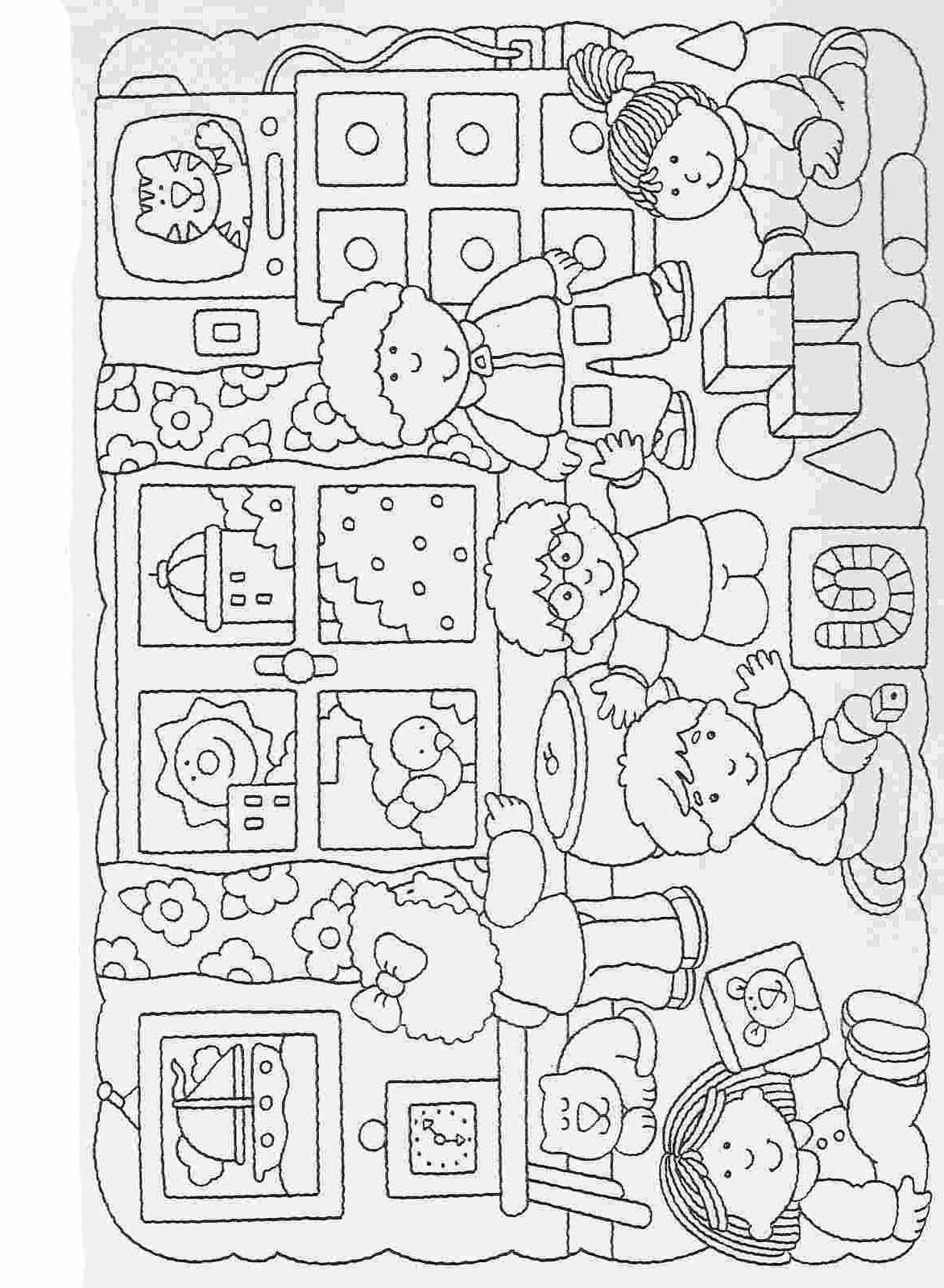 Elementary School Worksheets Complete And Coloring 41 Con