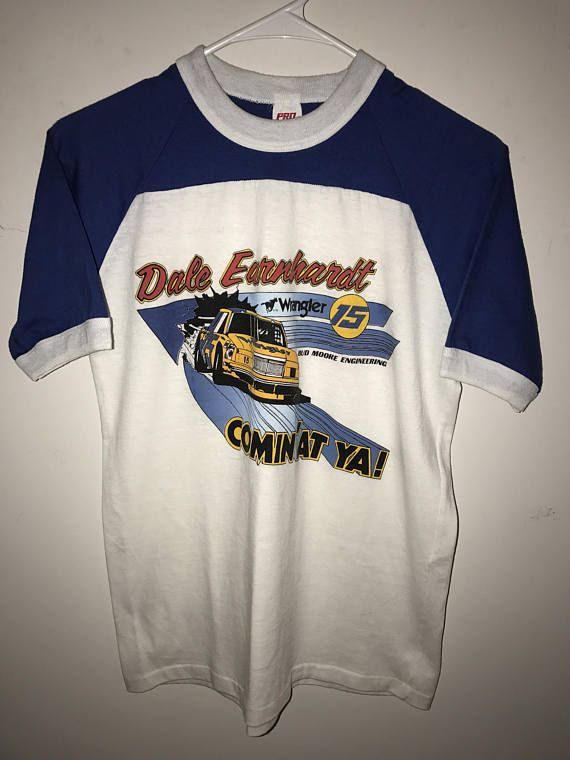 9bbf7caca63d Vintage 1982 Dale Earnhardt 15 Wrangler Racing NASCAR Shirt | The ...