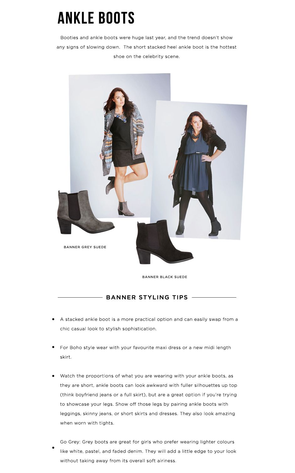 Get the look ankle boots city chic x wittner the ultimate wide