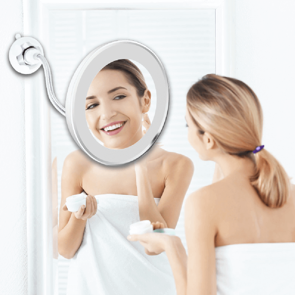 10x Magnifying LED Lighted Makeup Mirror Magnifying