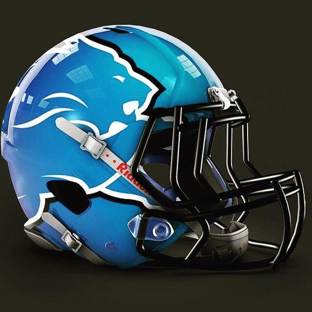 Detroit Lions Alternate Helmet Design Football Helmet