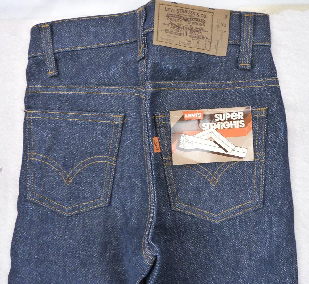 8be1cfbb465 NOS Vintage Levi's Super Straights Denim Jeans Student Size 25x31 Deadstock  NEW #Levis