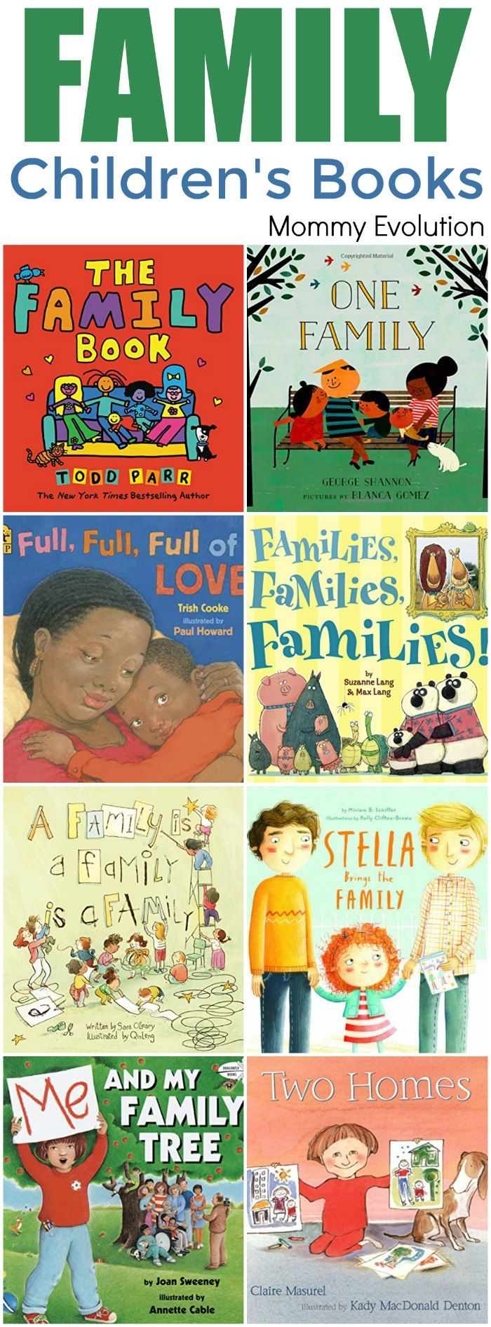 Childrens Books About Family Unit Study Mommy Evolution Children S Books About Family Preschool Family Theme Preschool Family