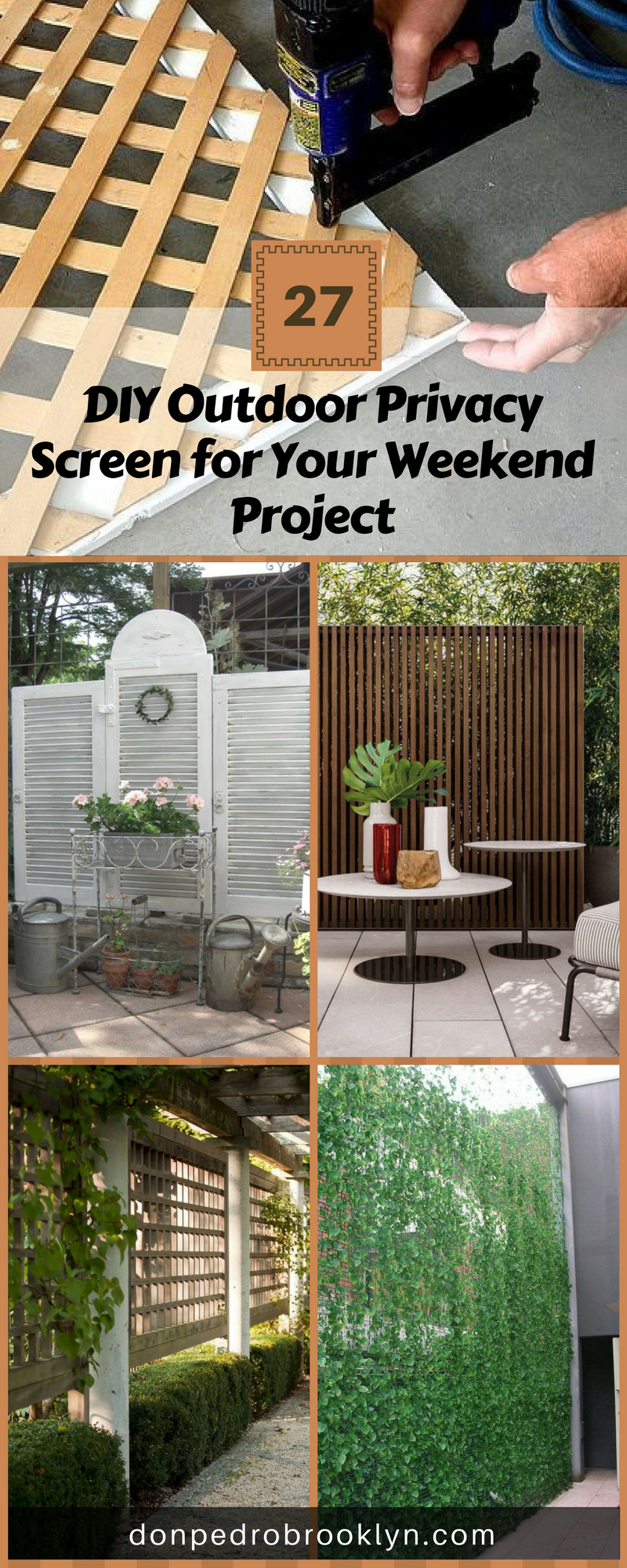 28 Awesome Diy Outdoor Privacy Screen Ideas With Picture Outdoor