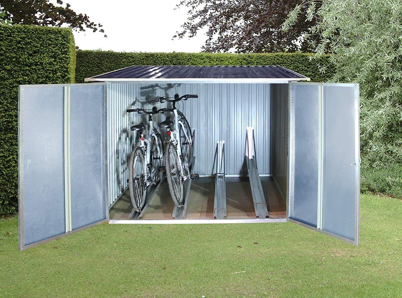 Tepro 7165 Fahrradbox für bis zu 4 Fahrräder Fahrradbox